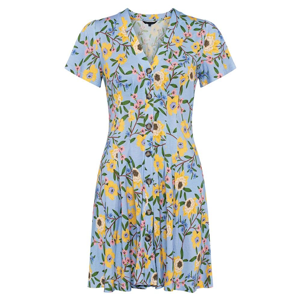 Eloise Meadow Jersey V Neck Dress