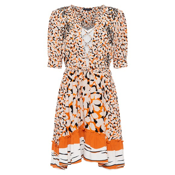 French Connection Womens Orange Ellie Mix Dress
