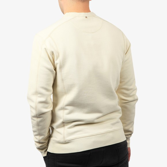 Pretty Green Mens White Cotton Crew Sweatshirt main image