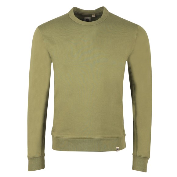 Pretty Green Mens Green Cotton Crew Sweatshirt main image