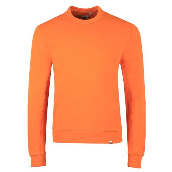 Pretty Green Mens Orange Cotton Crew Sweatshirt