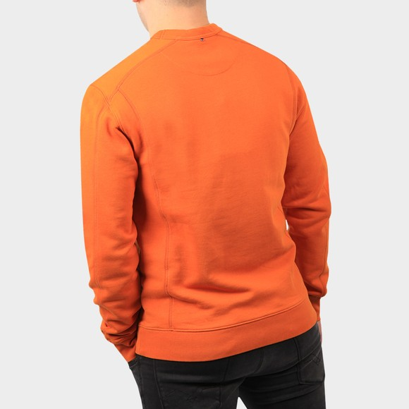 Pretty Green Mens Orange Cotton Crew Sweatshirt main image