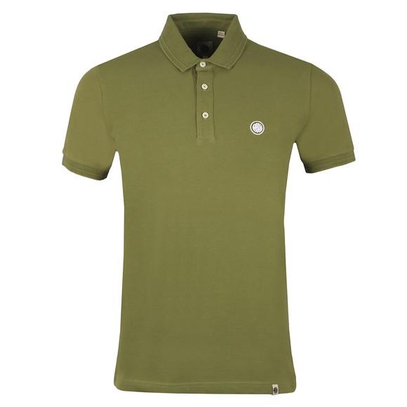 Pretty Green Mens Green Heavyweight Polo Shirt