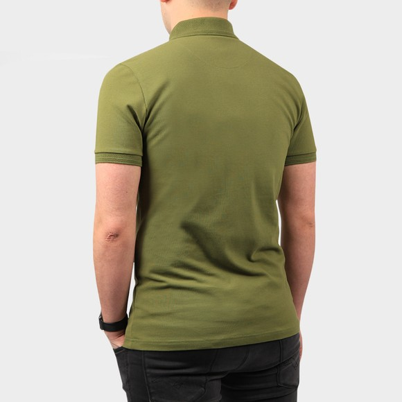 Pretty Green Mens Green Heavyweight Polo Shirt main image