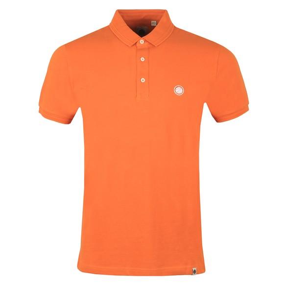 Pretty Green Mens Orange Heavyweight Polo Shirt
