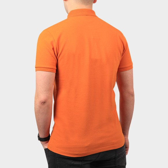 Pretty Green Mens Orange Heavyweight Polo Shirt main image