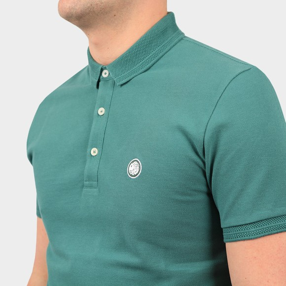 Pretty Green Mens Blue Heavyweight Polo Shirt main image