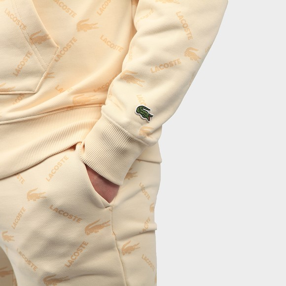 Lacoste Live Mens Beige SH9200 Allover Print Hoody main image