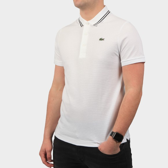 Lacoste Sport Mens White YH1482 Tipped Polo Shirt