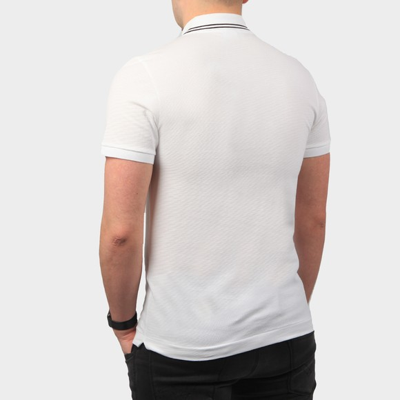 Lacoste Sport Mens White YH1482 Tipped Polo Shirt main image