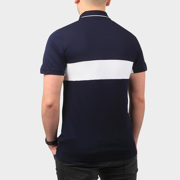 Lacoste Sport Mens Blue DH9583 Tipped Polo Shirt main image