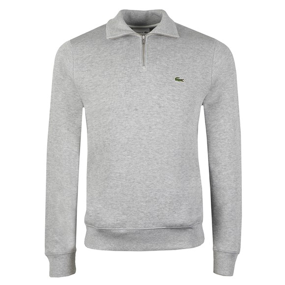 Lacoste Mens Grey SH1927 Half Zip Jumper