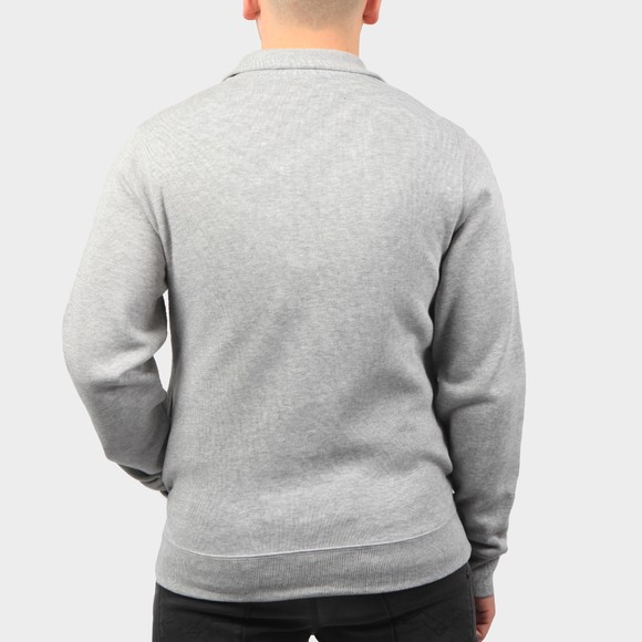Lacoste Mens Grey SH1927 Half Zip Jumper main image