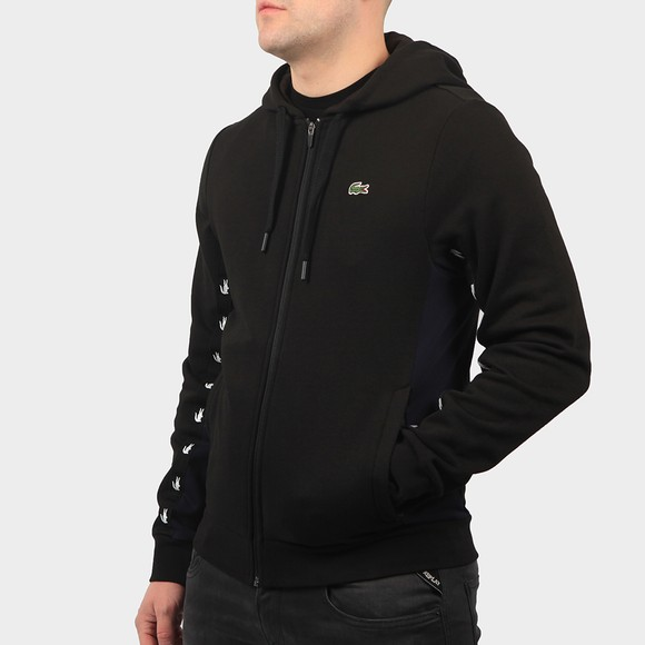 Lacoste Mens Black SH5174 Zip Hoody