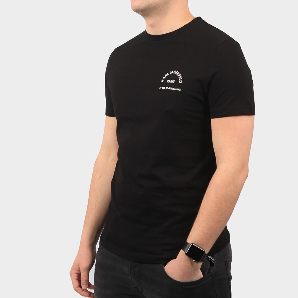 Curved Paris Logo T Shirt main image
