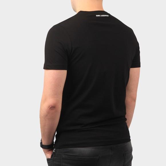 Karl Lagerfeld Mens Black Curved Paris Logo T Shirt main image