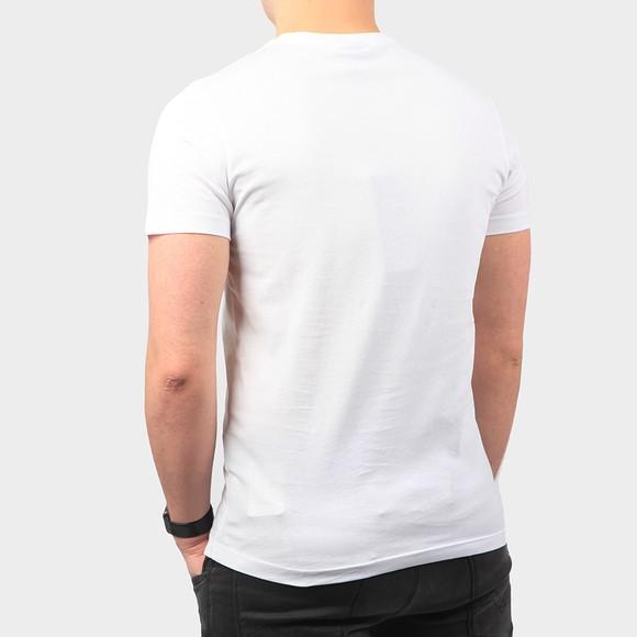 Karl Lagerfeld Mens White Curved Paris Logo T Shirt main image