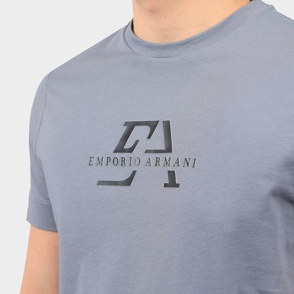 Emporio Armani Mens Blue Raised Logo T Shirt main image