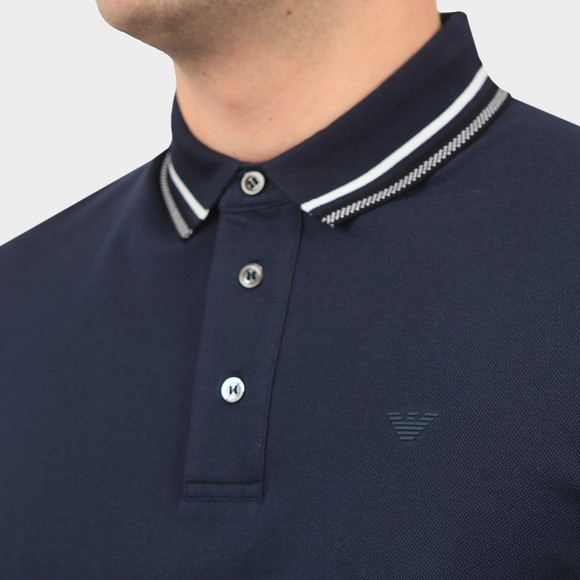 Emporio Armani Mens Blue Tipped Polo Shirt main image