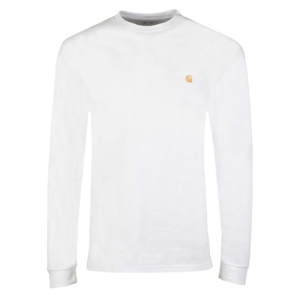 Carhartt WIP Mens White Long Sleeve Chase T Shirt