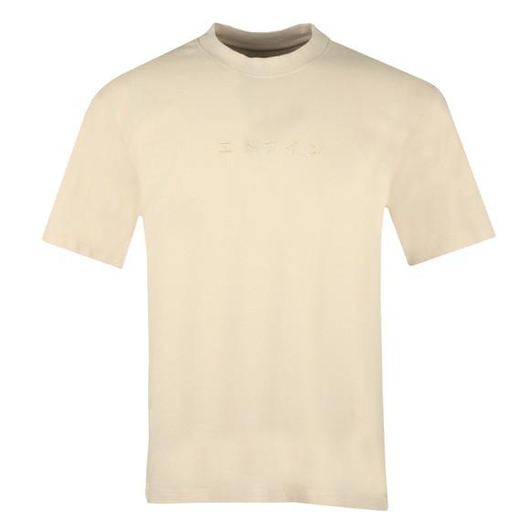 Edwin Mens Beige Katakana Embroidery T-Shirt