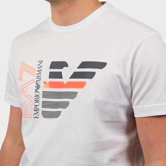 EA7 Emporio Armani Mens White Large Neon Logo T Shirt main image