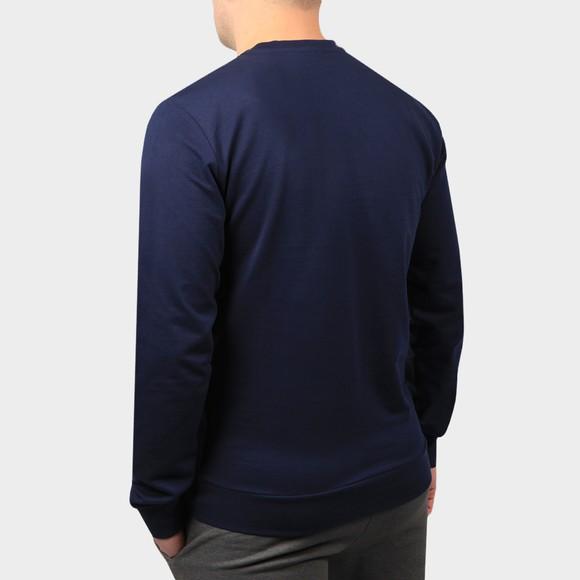 EA7 Emporio Armani Mens Blue Large Logo Hex Sweatshirt main image