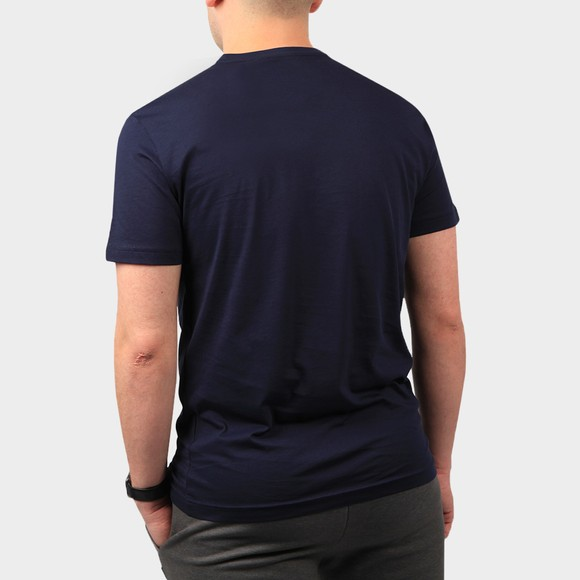 EA7 Emporio Armani Mens Blue Large Logo Hex T Shirt main image