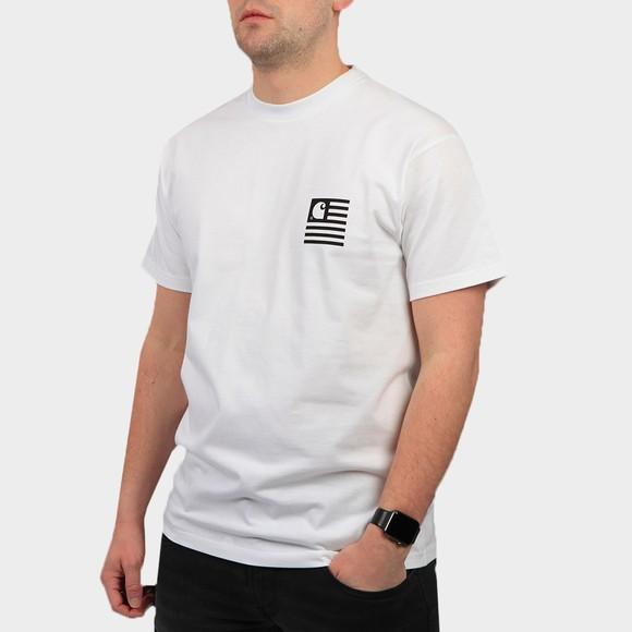 Carhartt WIP Mens White Wavy State T Shirt