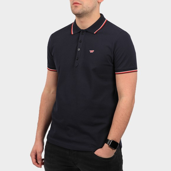 Diesel Mens Blue New Randy Tipped Polo Shirt