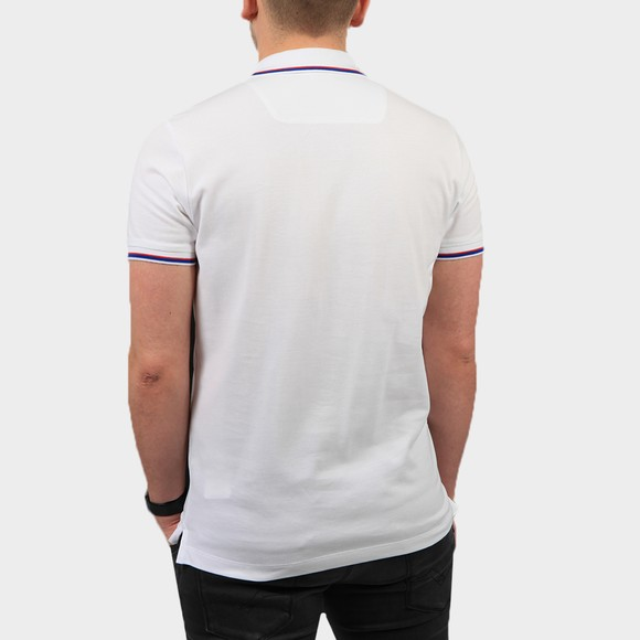 Diesel Mens White New Randy Tipped Polo Shirt main image