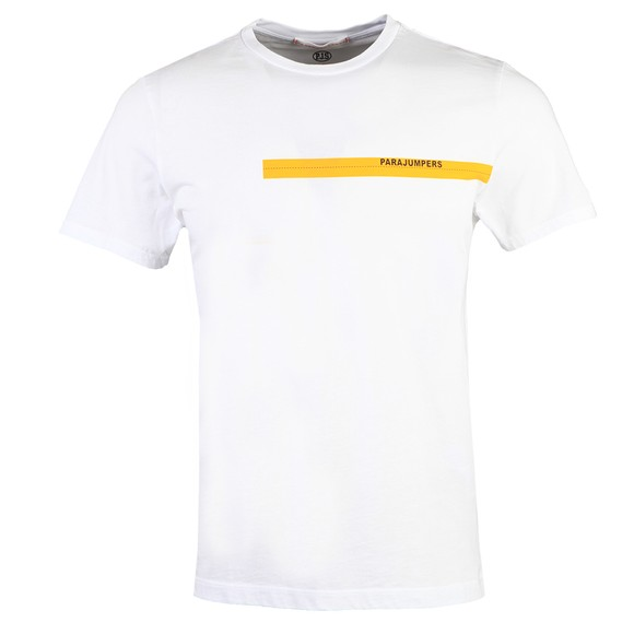 Parajumpers Mens Off-White Tape T Shirt
