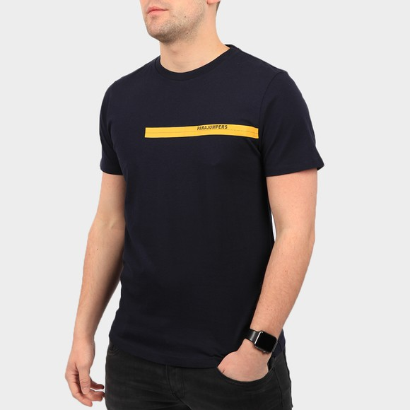 Parajumpers Mens Blue Tape T Shirt