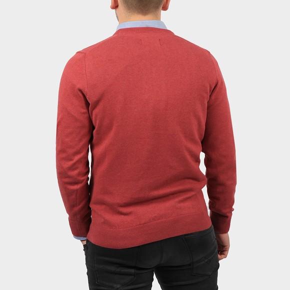 Barbour Lifestyle Mens Red Pima Cotton V Neck Jumper main image