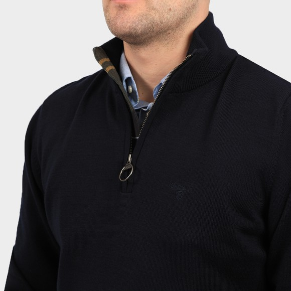 Barbour Lifestyle Mens Blue Cotton Half Zip Jumper main image