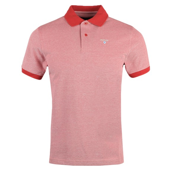 Barbour Lifestyle Mens Pink Sports Mix Polo Shirt