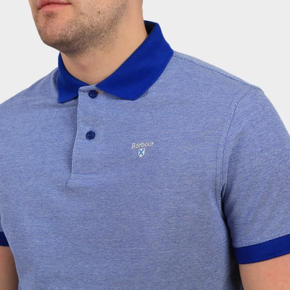 Barbour Lifestyle Mens Blue Sports Mix Polo Shirt main image