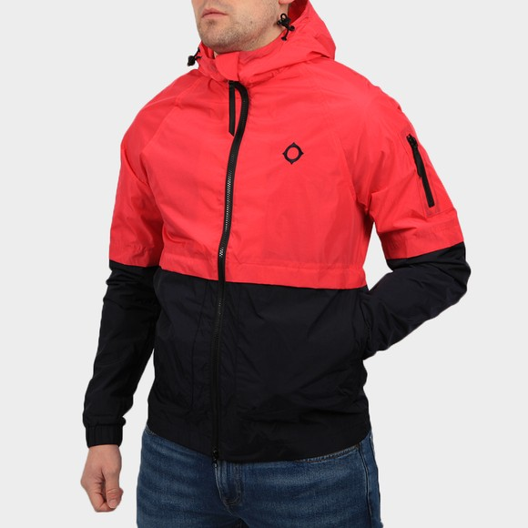 Ma.Strum Mens Pink NT Hooded Jacket