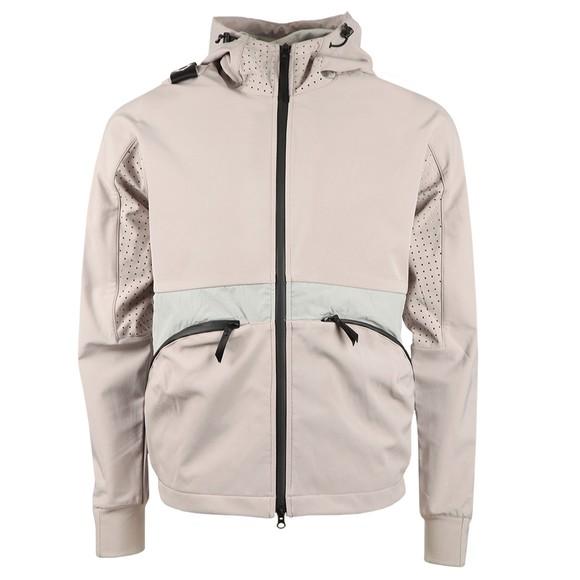 Ma.Strum Mens Grey Softshell Hooded Jacket