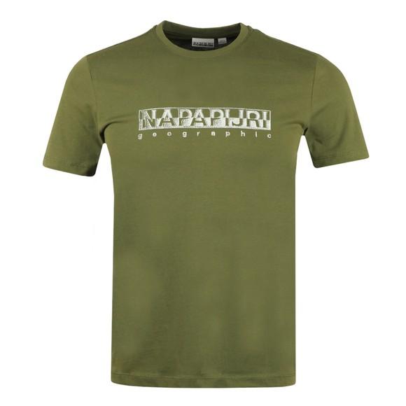 Napapijri Mens Green Sallar T Shirt