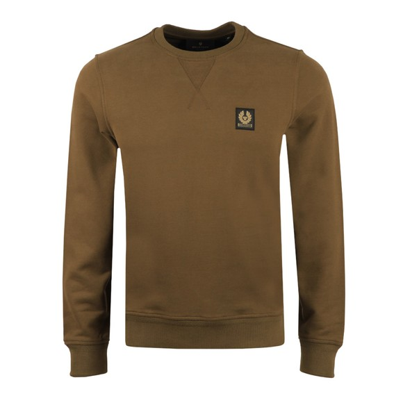 Belstaff Mens Green Chest Logo Sweatshirt