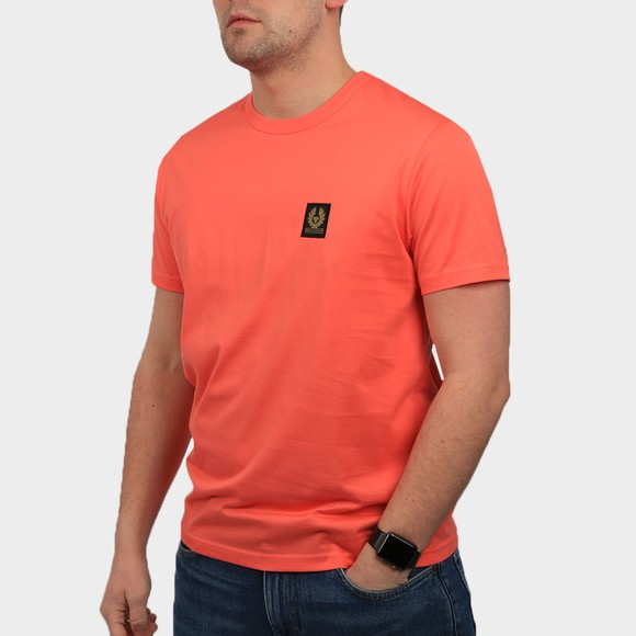 Belstaff Mens Red Patch Logo T Shirt