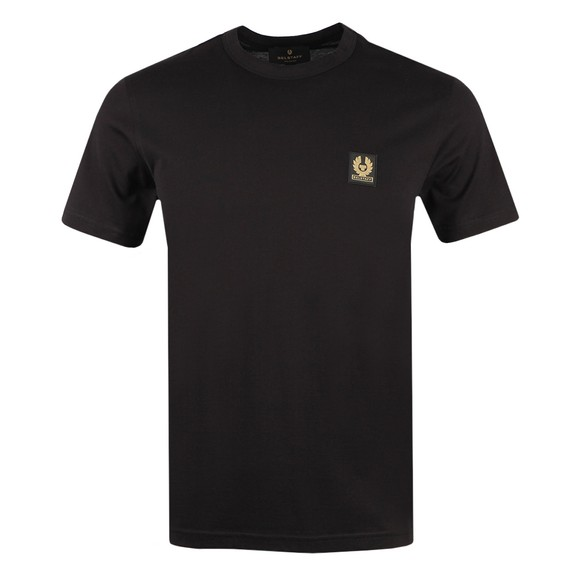 Belstaff Mens Black Patch Logo T Shirt