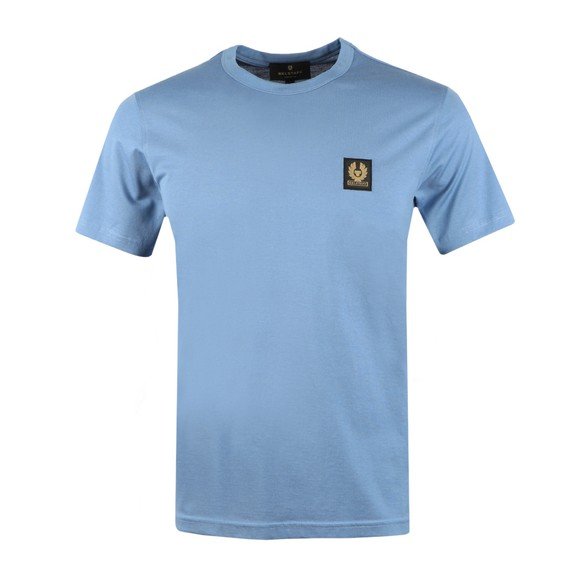 Belstaff Mens Blue Patch Logo T Shirt