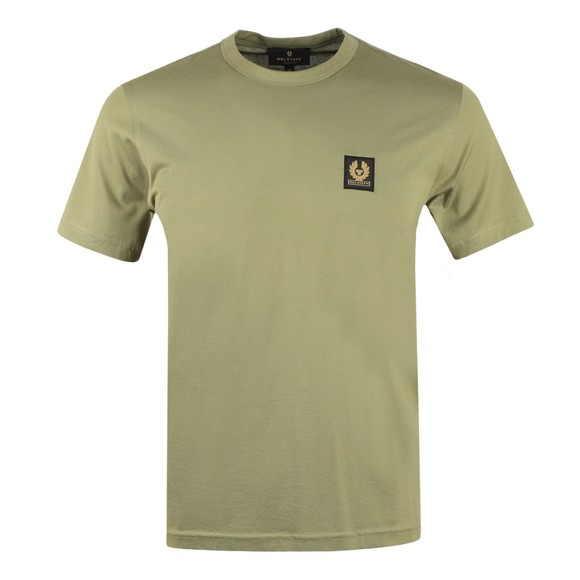 Belstaff Mens Green Patch Logo T Shirt