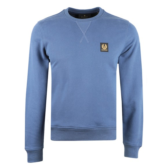 Belstaff Mens Blue Chest Logo Sweatshirt