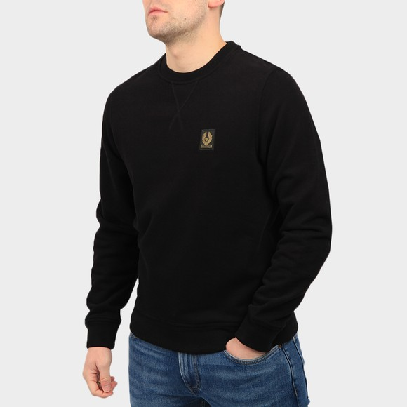 Belstaff Mens Black Chest Logo Sweatshirt