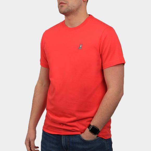 Psycho Bunny Mens Pink Classic Crew Neck T-Shirt