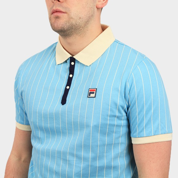 Fila Mens Blue BB1 Striped Polo Shirt main image