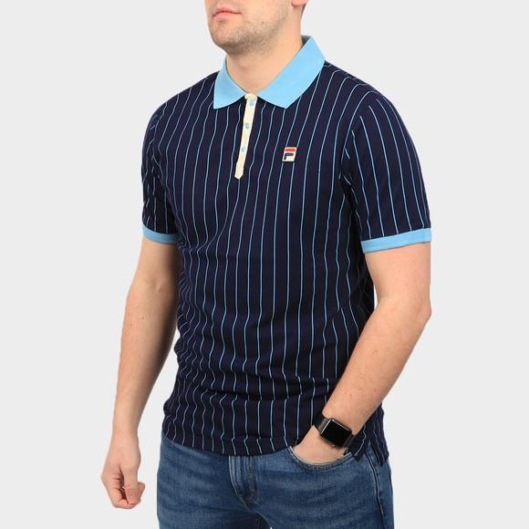 Fila Mens Blue BB1 Striped Polo Shirt